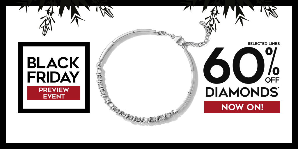 Get an amazing 60%off diamonds in H Samuels Black Friday preview event